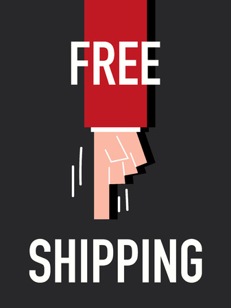 transport of goods: Words FREE SHIPPING