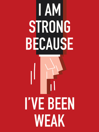 robust: Words I AM STRONG Illustration