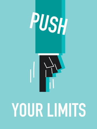 limits: Words PUSH YOUR LIMITS Illustration