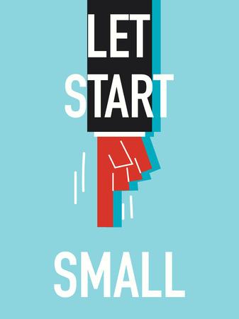 to let: Parole LET iniziare in piccolo