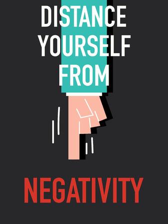 zelf doen: Woorden aFstand jezelf van NEGATIVITEIT Stock Illustratie