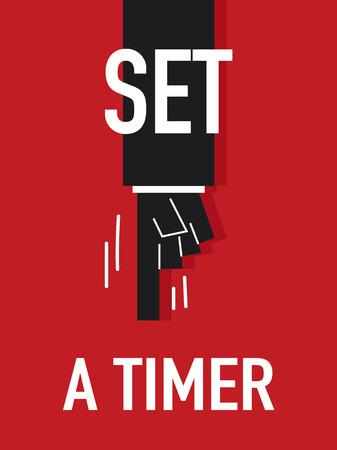 timer: Words SET A TIMER Illustration
