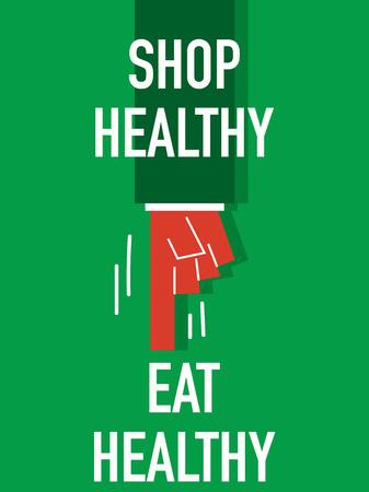 comer sano: Palabras TIENDA SALUDABLE COMER SALUDABLE