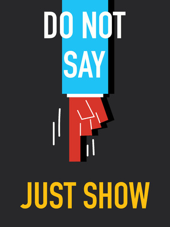 talk show: Words DO NOT SAY JUST KNOW Illustration