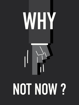 why not: Words  WHY NOT NOW
