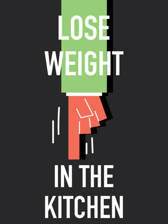 lose weight: Words LOSE WEIGHT IN THE KITCHEN