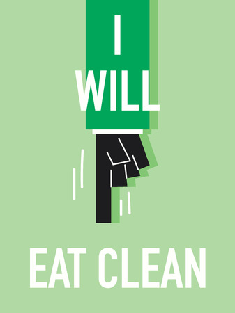 Words I WILL EAT CLEAN Illustration