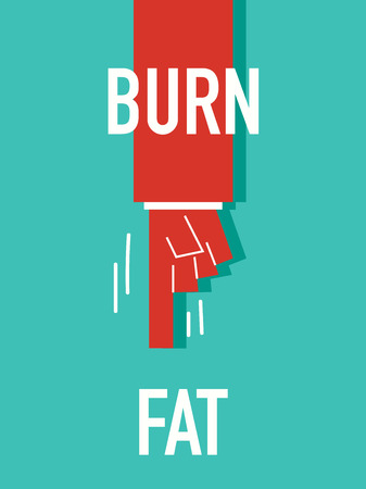 burn: Words BURN FAT Illustration