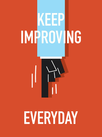 Words KEEP IMPROVING EVERYDAY Vector