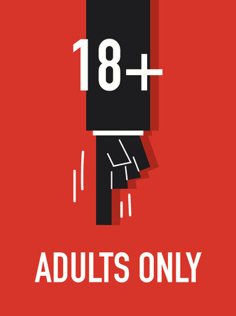 only adults: Words ADULTS ONLY