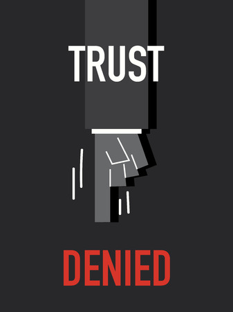 trust: Words TRUST DENIED