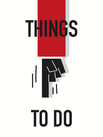 things to do: Words THINGS TO DO