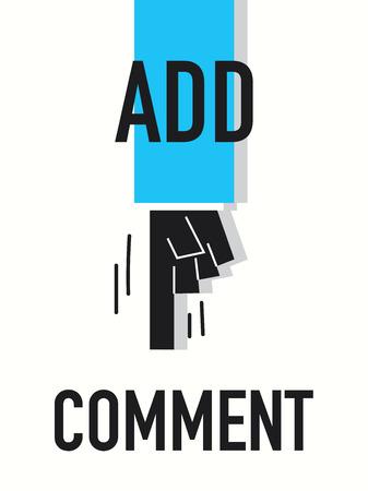 komentář: Slova přidat komentář