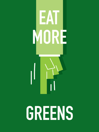 more: Words EAT MORE GREENS