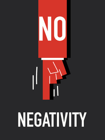 negativity: Words NO NEGATIVITY