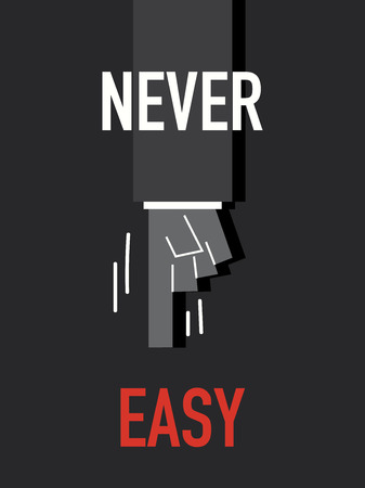 never: Words NEVER EASY