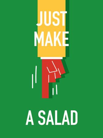 salatdressing: W�rter MACHEN SIE EINEN SALAT Illustration