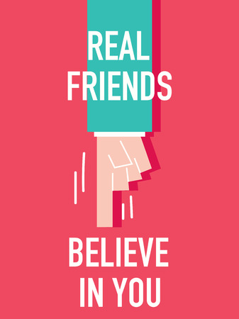 Words REAL FRIENDS BELIEVE YOU Stock fotó - 37151884
