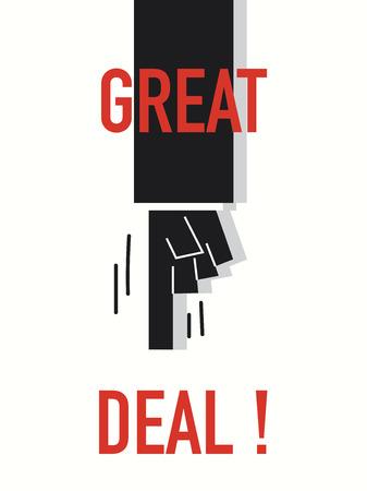 dealerships: Words GREAT DEAL Illustration