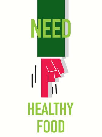 Words NEED HAELTHY FOOD