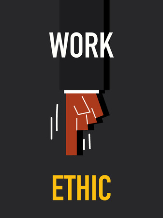 ethic: Words WORK ETHIC Illustration