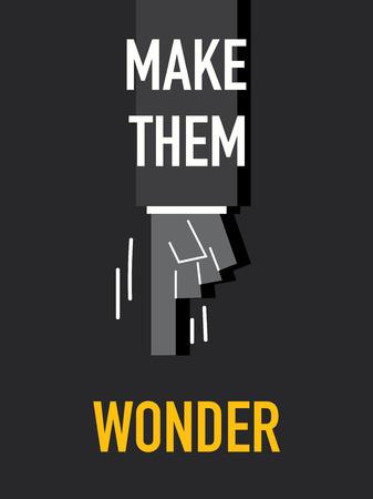 изумление: Слова сделать их WONDER Иллюстрация