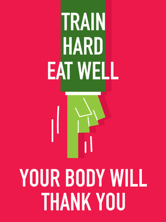robustness: Words TRAIN HARD EAT WELL