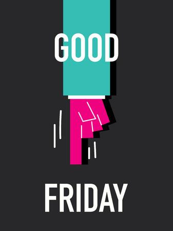 good friday: Words GOOD FRIDAY