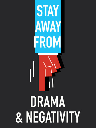 negativity: Words STAY AWAY FROM DRAMA AND NEGATIVITY