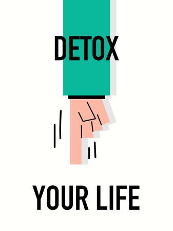 detox: Words DETOX YOUR LIFE