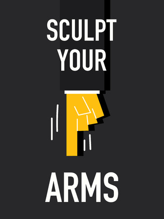 sculpt: Words SCULPT YOUR ARMS Illustration
