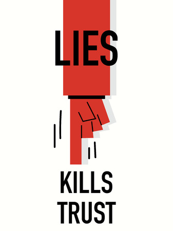 imposture: Words LIES KILLS TRUST