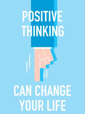 Woorden Positief denken kan uw leven veranderen Vector Illustratie