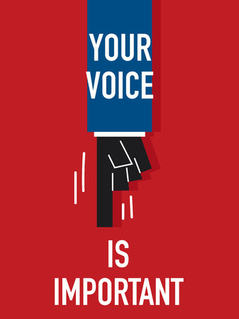 voices: Words YOUR VOICES IS IMPORTANT