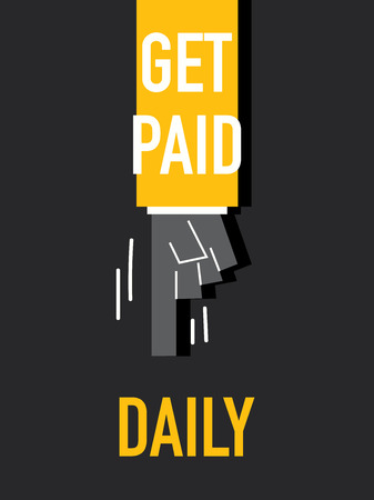 get: Words GET PAID DAILY