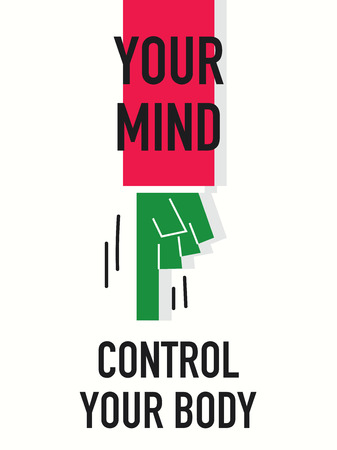 bodycare: Words YOUR MIND CONTROL YOUR BODY Illustration