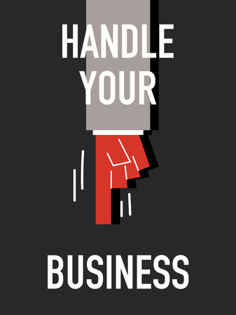 cope: Words HANDLE YOUR BUSINESS