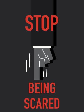 daring: Words STOP BEING SCARED