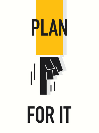 it: Words PLAN FOR IT Illustration