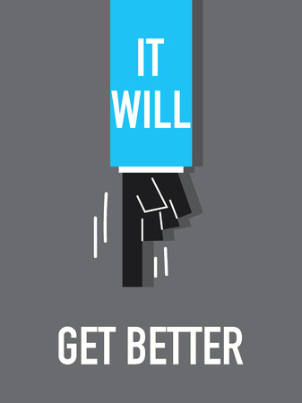 better: Words IT WILL GET BETTER Illustration