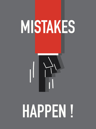 mistakes: Words MISTAKES HAPPEN
