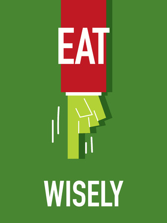 robustness: Words EAT WISELY Illustration