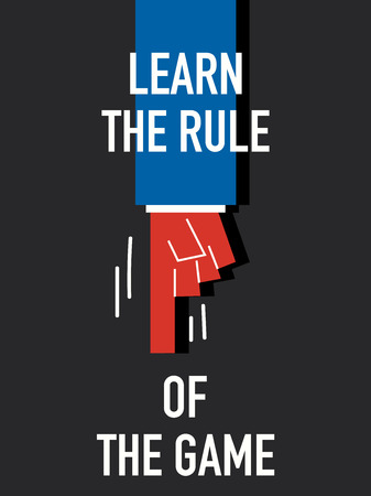 Words LEARN THE RULE OF THE GAME