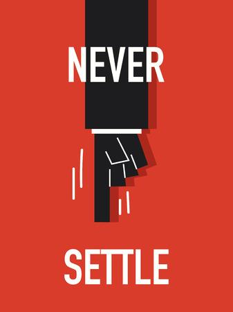 settle: Words NEVER SETTLE