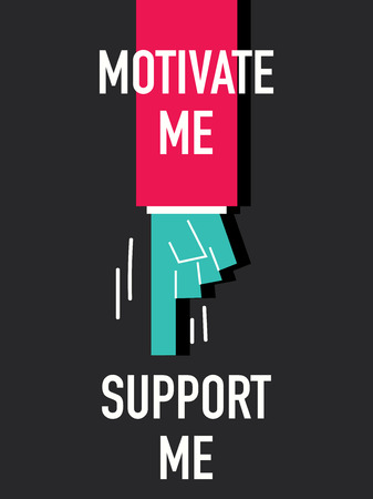 Words MOTIVATE ME SUPPORT ME