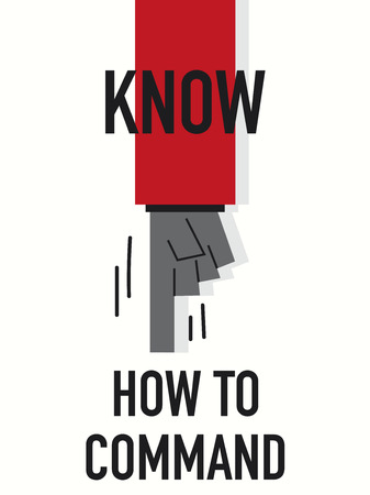 know how: Words KNOW HOW TO COMMAND