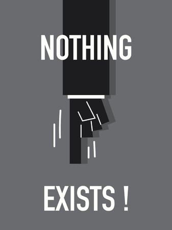 nothing: Words NOTHING EXISTS Illustration