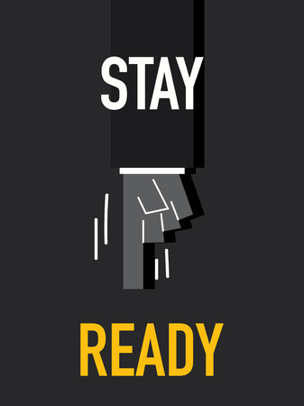 ready: Words STAY READY Illustration