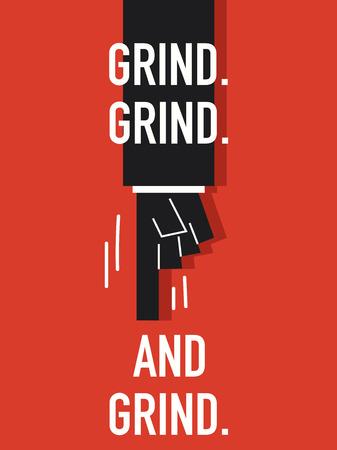 grind: Words GRIND