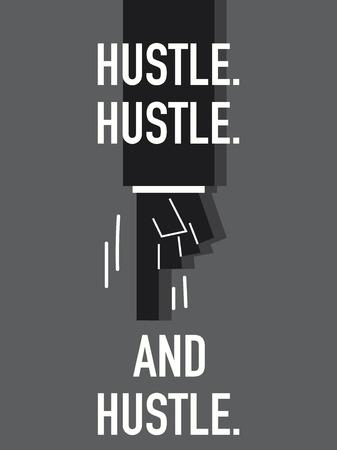 hustle: Words HUSTLE